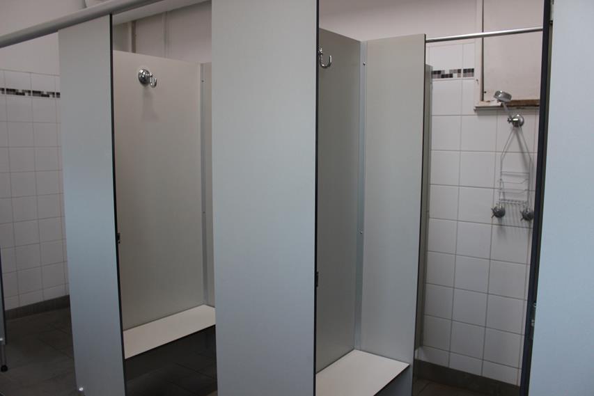 Duschen im Hostel