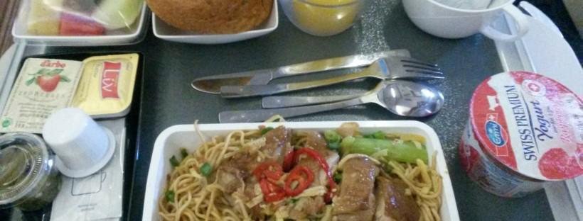 Das letzte Essen im Flugzeug