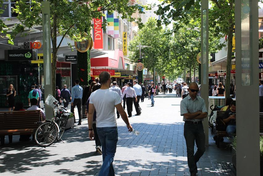 Perth in Australien - Fußgängerzone