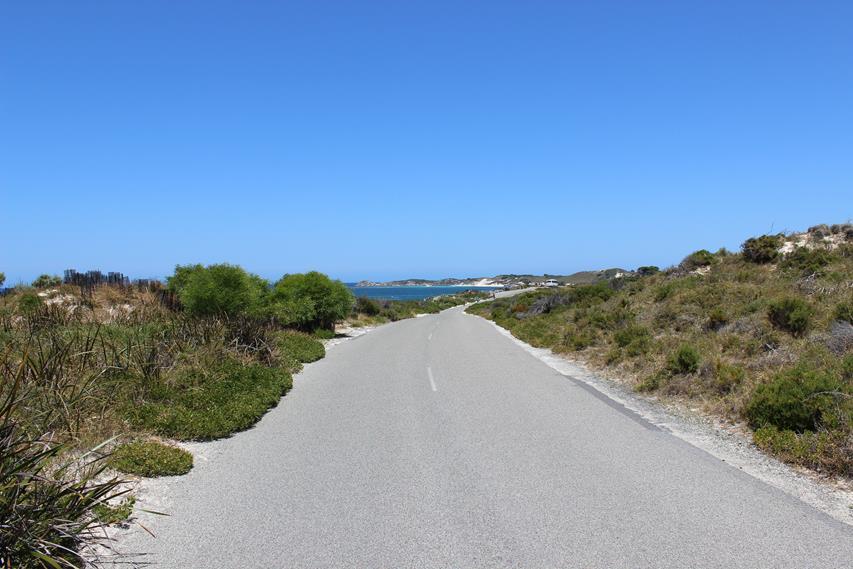Leere Straßen in Australien