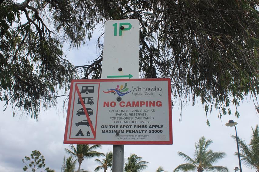 Backpacker und Rucksack Touristen sollen hier nicht Campen
