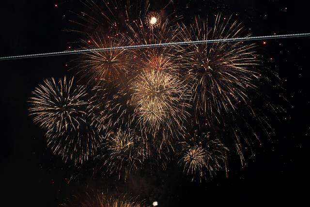 Hier siehst du das Silvester Feuerwerks Finale