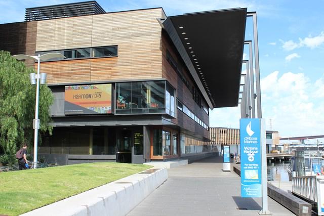 Hafen Melbourne Australien Bibliothek