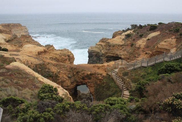 grün und widl schlängelt sich der Weg an der australischen Küste entlang