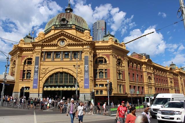 Altstadt von Melbourn Australien