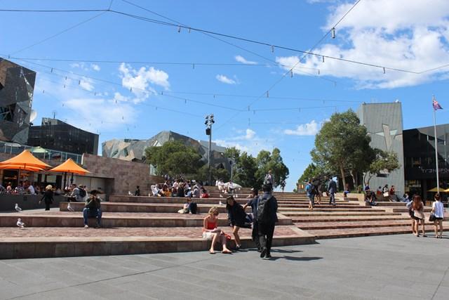 Meldbourne Stadt Australien