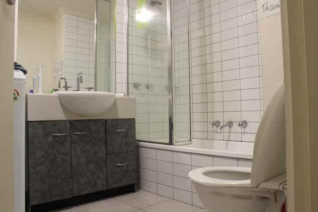 Badezimmer im Hostel