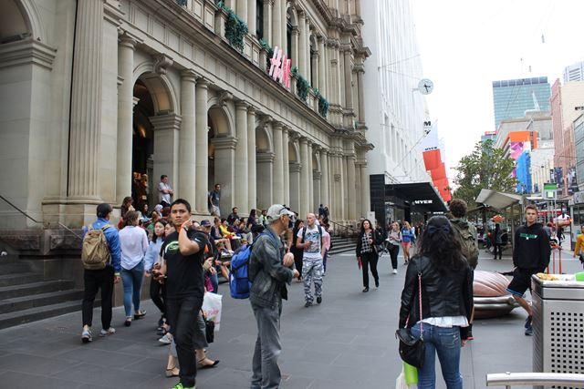 Strassenmusiker in Melbourne